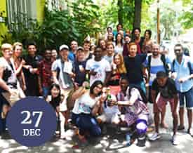 Christmas celebration at Caminhos Language Centre