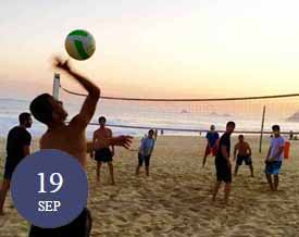 Beach volleyball and footvolley in Brazil